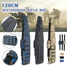 120cm Tactical Gun Bag Carbine Rifle Range Soft Padded Carry Case Storage+Strap