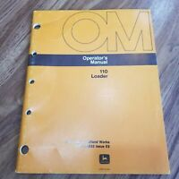 John Deere 110 Loader Operator's Manual OM-W38932 Issue E8