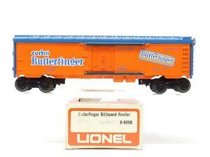 O Gauge 3-Rail Lionel 6-9858 NADX Curtiss Butterfinger Billboard Reefer #9858