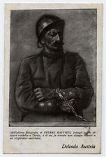 cartolina militare CESARE BATTISTI a.carpi