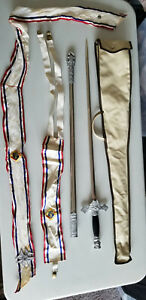 KNIGHTS OF COLUMBUS Vintage Ceremonial Sword Scabbard Belt Suspenders Case