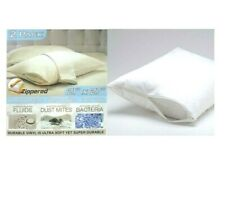 Waterproof Hypoallergenic Zipper Vinyl Pillow Cover Bed Bug Protector 2 pcs