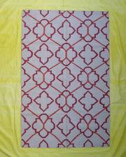 Wool Kilim Carpet Living Room Floor Mat Hand Woven Tribal Rugs 5x8 Beige Colour