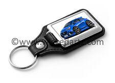 WickedKarz Cartoon Car Vauxhall Corsa E 2015+ VXR/SRi in Blue Key Ring