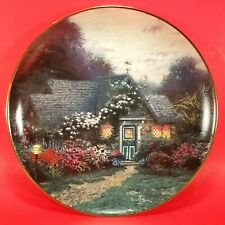 Thomas Kinkade Weathervane Cottage Enchanted Cottages 5th Plate in Series 1993