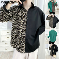 Men's Long Sleeve Shirts Leopard Printed Casual Dress Shirts Party Clubwear Tops