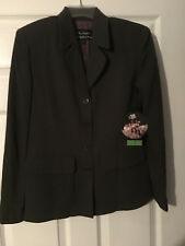 GARFIELD & MARKS Suit Coat  - Olive Green w/Tan Pinstripe - Size 2