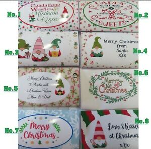 Christmas Chocolate Wrappers - 8 to choose from some personalised