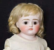 Rare Antique Kestner CLOSED MOUTH BISQUE HEAD DOLL Turned Head Glass Eyes