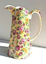 Rare Lord Nelson Ware Large Fluted Floral Decorated Pitcher Jug Gorgeous Item