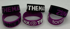 """Zumba TONING Rubber Multicolored 6 Bracelets """"TONED TO THE MAX"""" *NEW"""