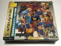 Sega Saturn X-Men vs Street Fighter soft+ 4MG RAM cartridge USED Game Used Japan