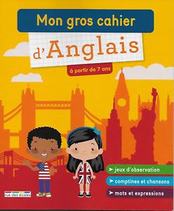 MON GROS CAHIER D'ANGLAIS A PARTIR DE 7 ANS - M. DAVID - RUE DES ECOLES 2020