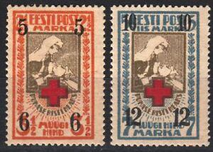 Nursing Nurse Red Cross Estonia Estland Overprint set Mint MNH MLH 1926