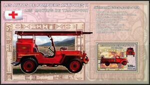 Congo 2006 MNH MS, Antique Fire Brigade, Red Cross, Ford, Special Transport