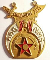 Imperial Council Session AAONMS Chicago Illinois Shriners Vintage Medal Pin