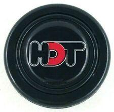 HDT logo steering wheel horn push button. Fits Momo Sparco OMP Nardi Raid etc