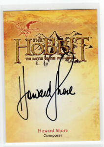 The Hobbit The Battle of the Five Armies - Howard Shore Composer Auto Card CA-5