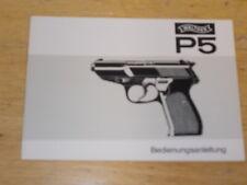 Bedienungsanleitung Walther P5 , Ausführung Weiss/Grau