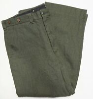 Vtg CC Filson Whipcord Wool Field Hunting Pants Style 180 Talon Zip Ms 36 Olive