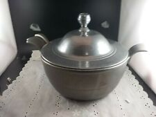 Vintage Carson Pewter Soup Tureen With Handle