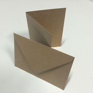 25 sets x Rustic A5 C5 Recycled Brown Fleck Wedding Card Blanks & Envelopes