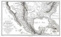 MAP ANTIQUE 1811 HUMBOLDT MEXICO TEXAS LOUISIANA FLORIDA REPLICA PRINT PAM1671