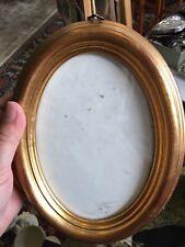 Wood Oval Frame Gold Leaf