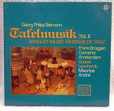 Telemann Tafelmusik Vol.2 Bruggen Leonhardt - Telefunken Box Set 11548  EX / EX