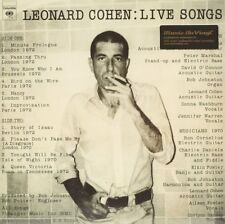 Live Songs  Leonard Cohen Vinyl Record
