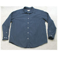 St. John's Bay Blue Pocket Man's Dress Shirt Long Sleeve XL Extra Large Top Mens