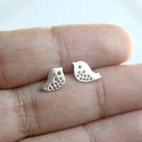 New 925 Sterling Silver Bird Stud Earrings Birds Ear Post Jewelry for women