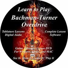 Bachman Turner Overdrive Guitar TABS Lesson CD 15 Songs + Back Tracks + BONUS!!