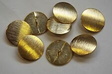 8pc 20mm Gold Brushed Metal Blazer Cardigan Knitwear Children Baby Button 3427