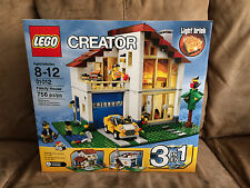 Lego 31012 Creator Family House W/Light Brick 756 pcs Modular 3 in 1 Set Retired