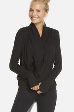 Fabletics Austin Wrap II Shrug Sweater Jumper Size XS/8 BNWT RRP £62 Black