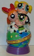 "Powerpuff Girls ceramic bank Enesco Cartoon Network 9"""