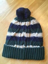 NEW Mini Boden Green striped knitted hat XS