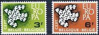 Belgium 1961 SG 1793-1794  Mi 1253-4 MNH  Europa Doves Birds