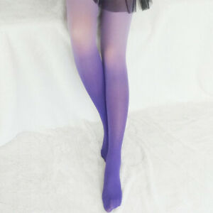 Women Sexy Gothic Pantyhose Gradient Color Nylon Tights Stockings Cocktail Party