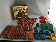 1996 HASBRO PLAYSKOOL LINCOLN LOGS 993/991 LOG CABIN Set
