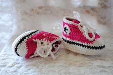 Handmade Crochet Knitted Sports Shoes  Baby Boy Girl Infant Pre Walker Photo