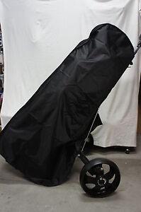 Full-Length Nylon Golf Bag Rain Cover w/Pockets for Big Bag, Protect Clubs & Bag