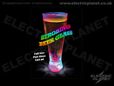 Light-Up LED Pint Glass / Beer Glass With 3 Lighting Modes - Gift Boxed