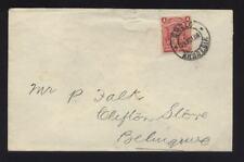 RHODESIA 1906 COVER SOLO 1d AA TRADING GWELO...BELINGWE and BULAWAYO STATION