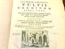 CARMINUM LIBRI TRES -JOANNIS ANTONII VULPII