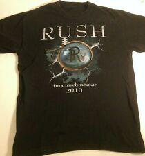Rush Time Machine Tour 2010 T-Shirt 2 sided graphics Vibrant Clean Sharp!
