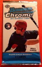 MLB 2011 Topps Bowman Chrome Baseball Cards Trading Card Hobby Pack