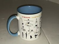 UNEMPLOYED PHILOSOPHERS GUILD HOW TO YOGA COFFEE MUG TEA CUP 12 OZ. - EUC