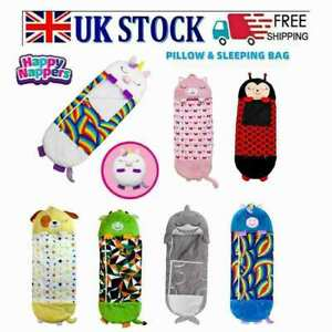 UK Large Happy Nappers Sleeping Bag Kids Play Pillow Soft Warm Unicorn Gift Toys